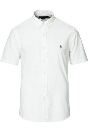 Polo Ralph Lauren Herre Kortermede - Slim Fit Chambray Short Sleeve Shirt White