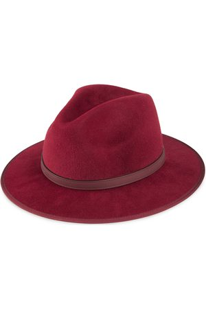 Gucci Herre Hatter - Felt hat with leather detail