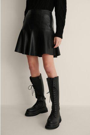 NA-KD Half Circle Panel PU Skirt