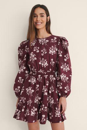 NA-KD Dame Hverdagskjoler - Langermet Skjortekjole Med Elastisk Midje