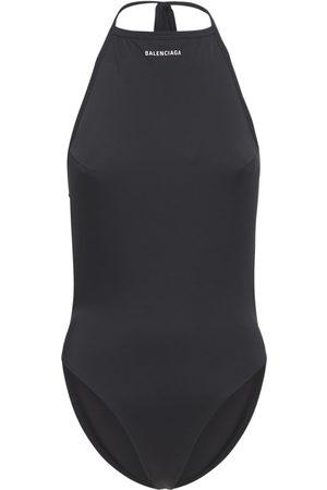 Balenciaga Dame Badedrakter - Logo Printed Lycra Swimsuit