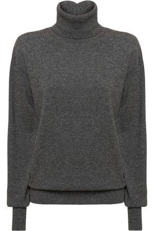 Jil Sander Dame Pologensere - Cashmere Knit Turtleneck Sweater