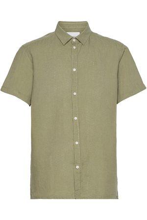 Les Deux Herre Kortermede - Lando Linen Ss Shirt Kortermet Skjorte Creme