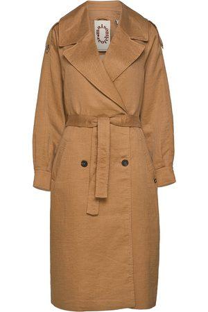 Scotch&Soda Dame Trenchcoats - Longer Length Trench Coat Trench Coat Kåpe Brun