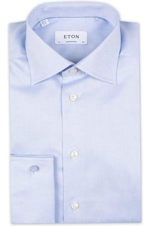 Eton Contemporary Fit Shirt Double Cuff Blue