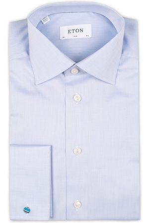 Eton Herre Skjorter - Slim Fit Shirt Double Cuff Blue