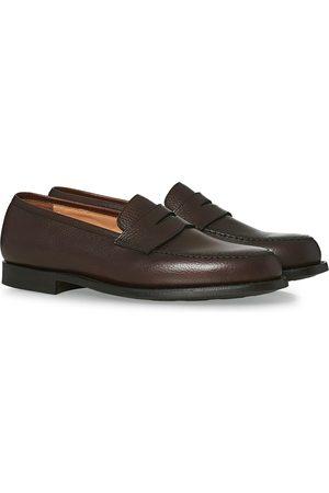 Crockett & Jones Herre Loafers - Boston City Sole Dark Brown Calf
