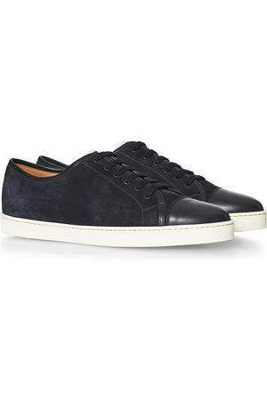 JOHN LOBB Herre Sneakers - Levah Sneaker Dusk Blue Suede