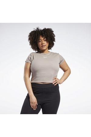 Reebok Dame Kortermede - Classics Ribbed T-Shirt (Plus Size)