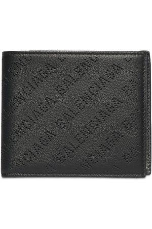 Balenciaga Herre Lommebøker - Allover Logo Leather Wallet