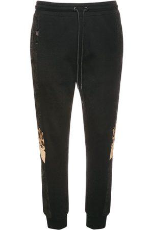 Dolce & Gabbana Herre Joggebukser - Logo & Leopard Cotton Sweatpants