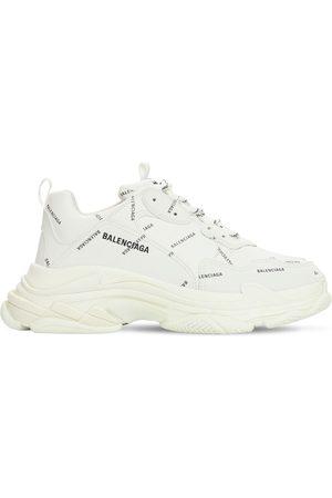 Balenciaga Herre Sneakers - Triple S Faux Leather & Mesh Sneakers
