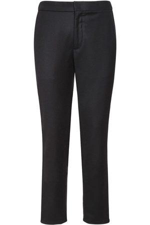 Loro Piana Herre Chinos - 17cm Flannel Wool & Cashmere Pants