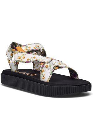 MANGO Dame Sandaler - Garden Shoes Summer Shoes Flat Sandals Hvit