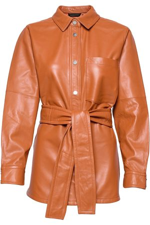 INWEAR Karleeniw Shirt Jacket Skinnjakke Skinnjakke Brun