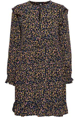 Scotch&Soda Dame Mønstrede kjoler - Printed Drapey Dress With Shoulder Ruffles Knelang Kjole Multi/mønstret
