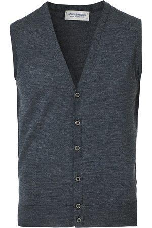 JOHN SMEDLEY Herre Vester - Huntswood Extra Fine Merino Waistcoat Charcoal