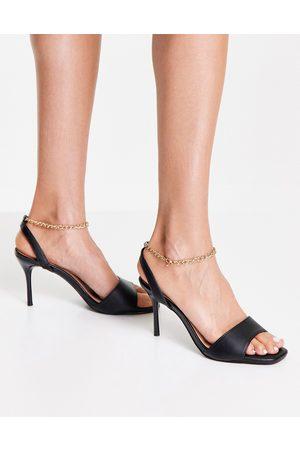 New Look Dame Høyhælte sandaler - Ankle chain heeled sandal in black