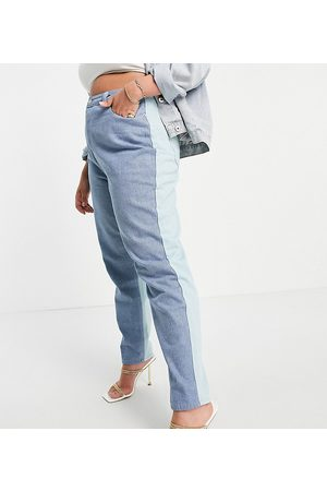 Missguided Co-ord Riot jean in blue colourblock