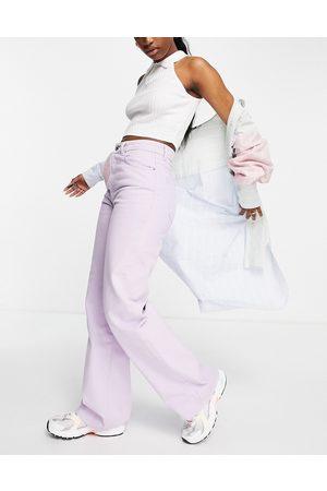 Stradivarius Dame Jeans - 90s dad jean in lilac-Purple