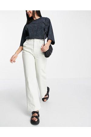Dr Denim Dame High waist - Mila straight leg high rise utility jeans in ecru-Neutral