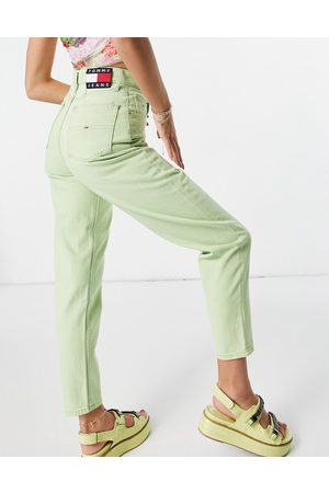 Tommy Hilfiger Dame Mom - Mom jean in lime-Green