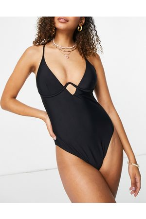 New Look Dame Badedrakter - Monowire swimsuit in black
