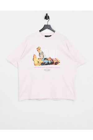 The Couture Club Flame graphic t-shirt in pink