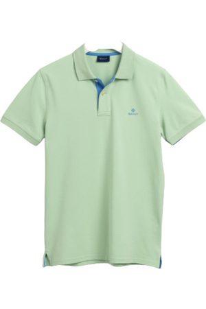 GANT Herre Kortermede - Contrast Collar Pique Ss T-Shirt