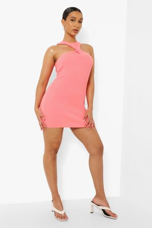 Boohoo Dame Halterneckkjoler - Halterneck Knitted Mini Dress