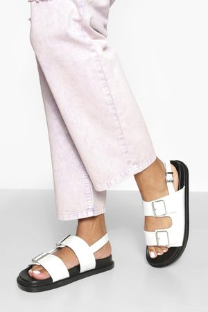 Boohoo Wide Fit Double Strap Sporty Dad Sandal