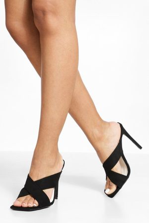 Boohoo Wide Fit Crossover Square Toe Mule