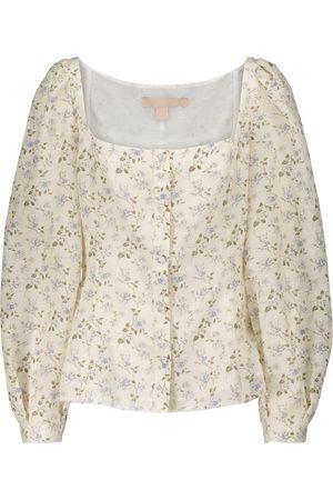 BROCK COLLECTION Floral linen-blend blouse