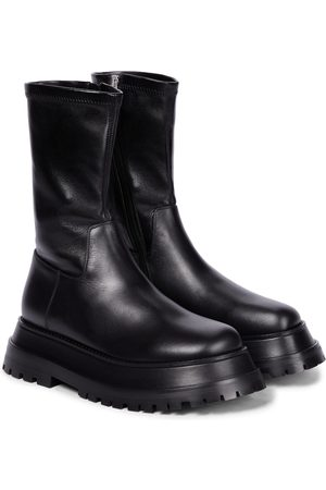 Burberry Leather sock boots