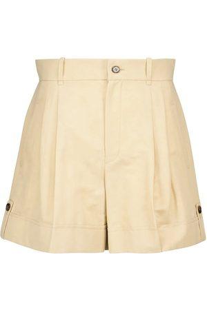 Chloé Dame Shorts - High-rise linen and cotton shorts