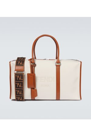 Fendi Logo duffel bag with leather trims