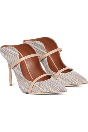MALONE SOULIERS Maureen 100 striped canvas mules