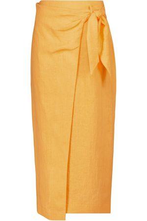 Nanushka Randi linen wrap skirt