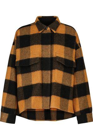 MM6 MAISON MARGIELA Checked wool-blend shirt jacket