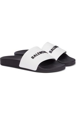 Balenciaga Dame Loafers - Logo rubber slides