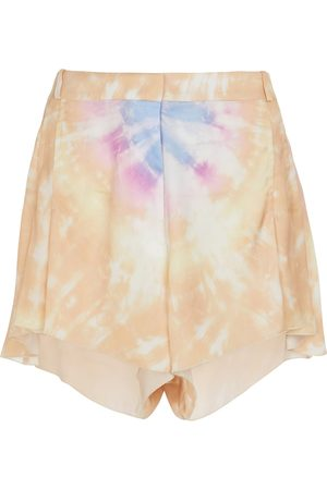 Paco rabanne High-rise tie-dye shorts