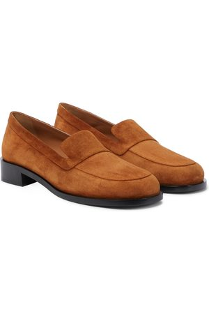 The Row Garcon suede loafers