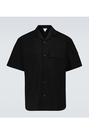 Bottega Veneta Herre Kortermede - Stretch-cotton canvas shirt