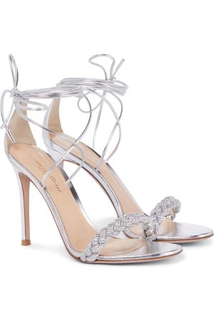 Gianvito Rossi Dame Høyhælte sandaler - Leomi 105 braided leather sandals