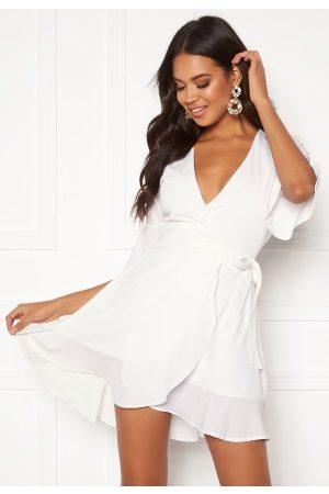 BUBBLEROOM Edie wrap dress White 34