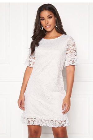 Happy Holly Dame Sommerkjoler - Julianne flounce lace dress White 40/42