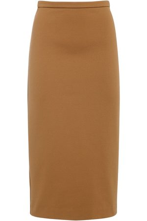 Max Mara Jersey Pencil Midi Skirt