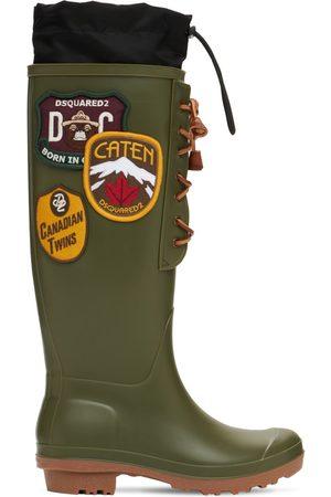 Dsquared2 Dame Gummistøvler - 20mm Dook Rubber & Nylon Rain Boots