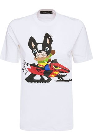 Dsquared2 Dame Kortermede - Icon Patch Cotton Jersey T-shirt