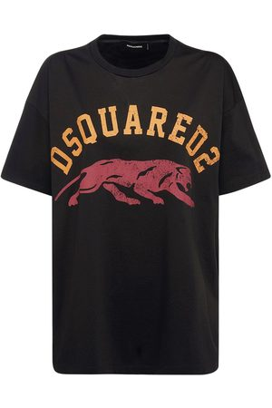 Dsquared2 Oversized D2 Logo Cotton Jersey T-shirt